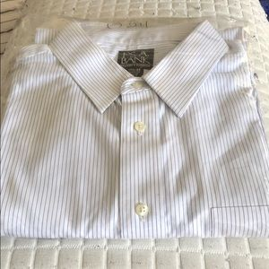 Jos A. Bank blue pinstripe Shirt 17.5 - 33